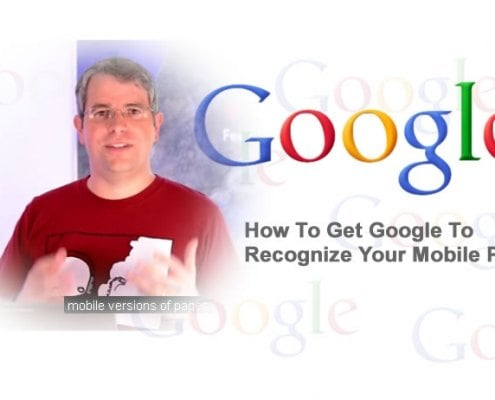 google to recognize your mobilepage