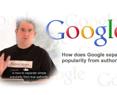 Separate Google popularity from authority?