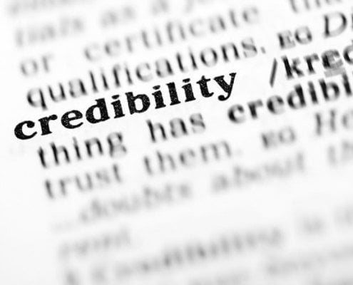 online credibility as text