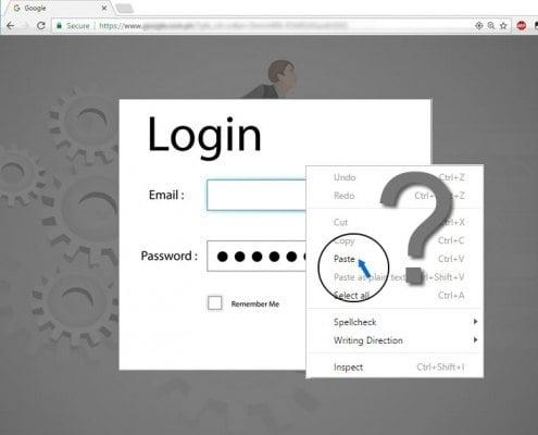 Let them paste passwords