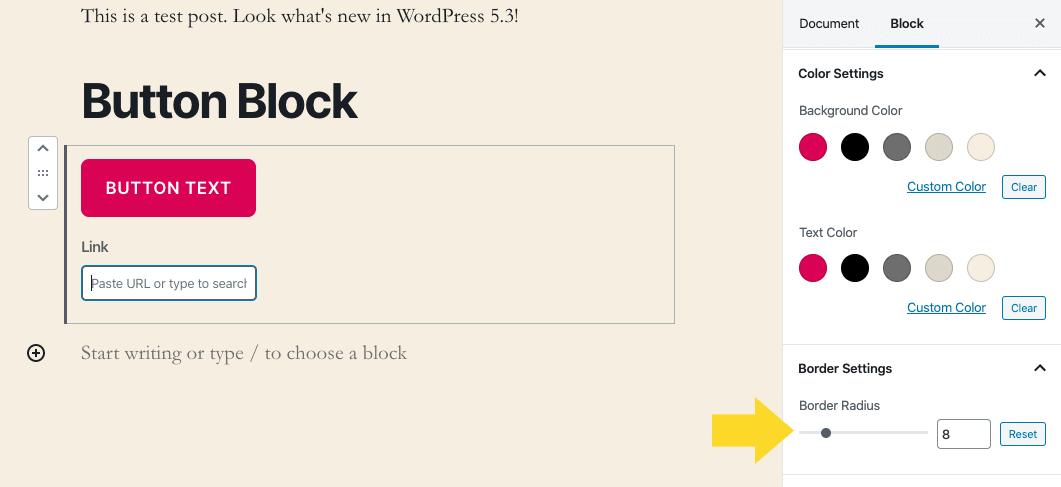 wordpress button block